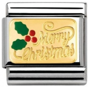 Nomination - Link 18K Gold 'Merry Christmas' 030282/17