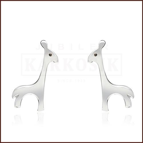 Srebrne kolczyki - Żyrafy pr.925