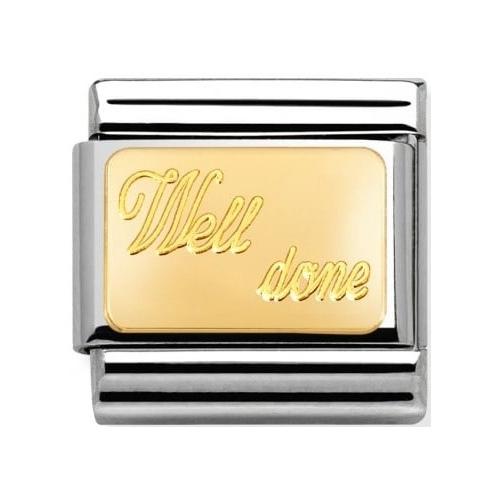 Nomination - Link 18K Gold 'Well Done' 030121/27
