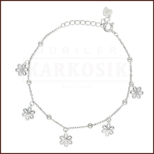 Srebrna Bransoletka Celebrytka - Kwiaty pr.925