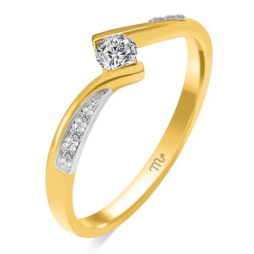 Pierścionek zaręczynowy złoto 585 z brylantem 0,22ct