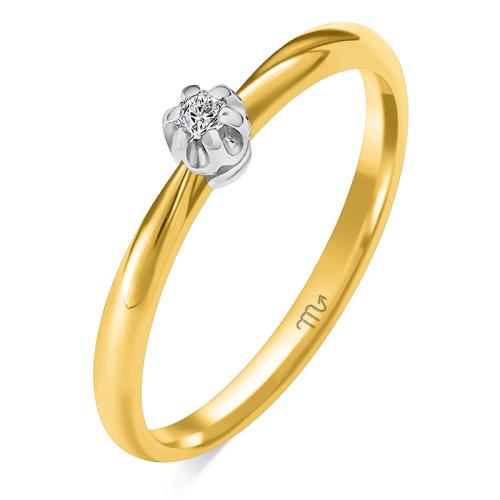 Pierścionek zaręczynowy złoto 585 z brylantem 0,03ct