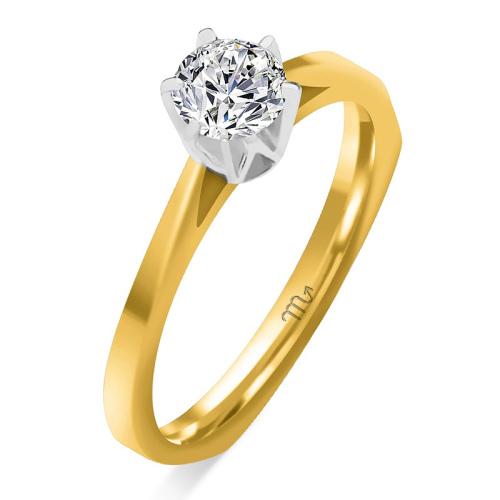 Pierścionek zaręczynowy złoto 585 z brylantem 0,35ct