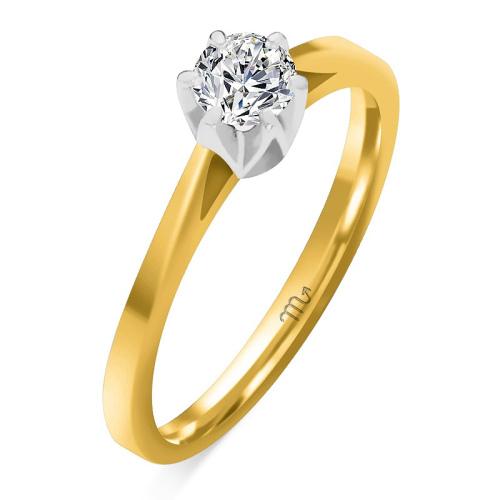 Pierścionek zaręczynowy złoto 585 z brylantem 0,30ct