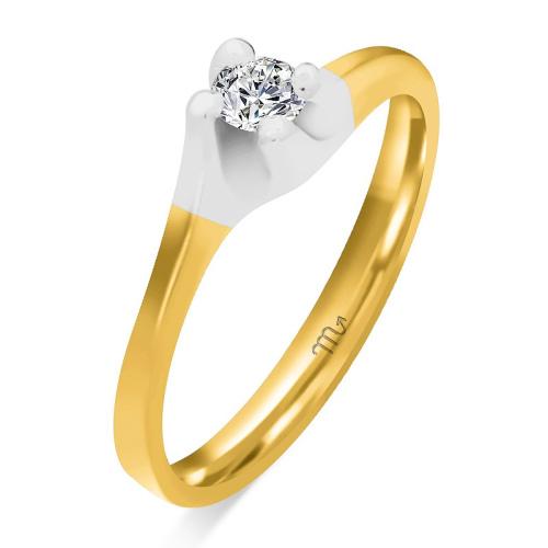 Pierścionek zaręczynowy złoto 585 z brylantem 0,11ct