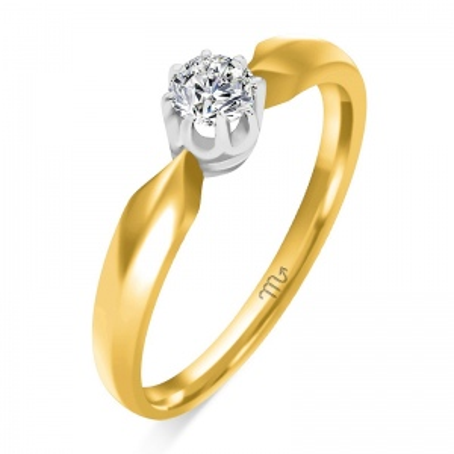 Pierścionek zaręczynowy złoto 585 z brylantem 0,26ct