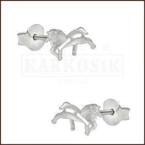 Srebrne kolczyki z cyrkoniami - Jednorożec pr.925