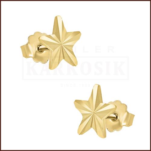 Złote kolczyki - Gwiazdki pr.333