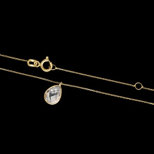 Złoty Naszyjnik z cyrkonią pr.585