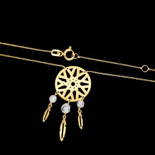 Złoty Naszyjnik Celebrytka Łapacz Snów pr.585