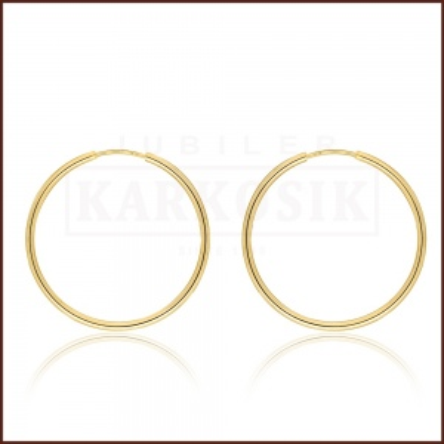 Złote kolczyki - Koła - 3 cm pr.333