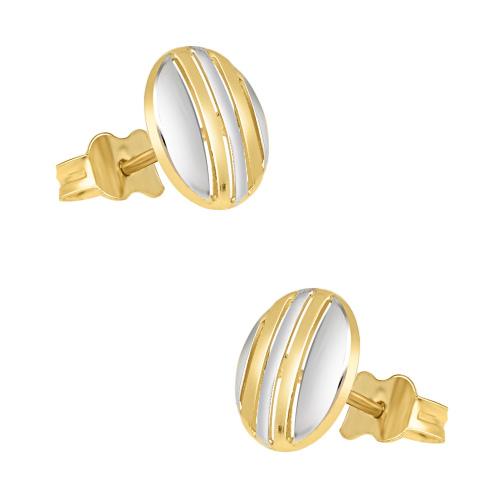 Złote kolczyki - kółeczka pr.585