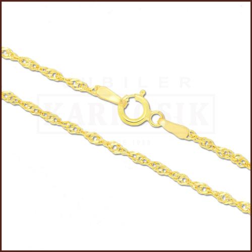 Złoty Łańcuszek Singapur 42cm pr. 585
