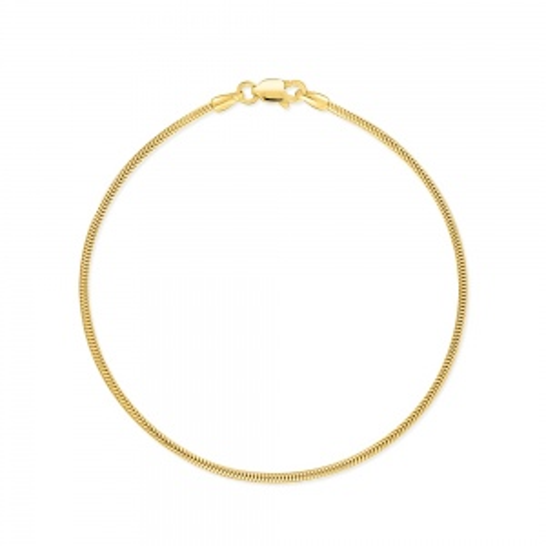 Złota Bransoletka Żmijka 19cm pr.585