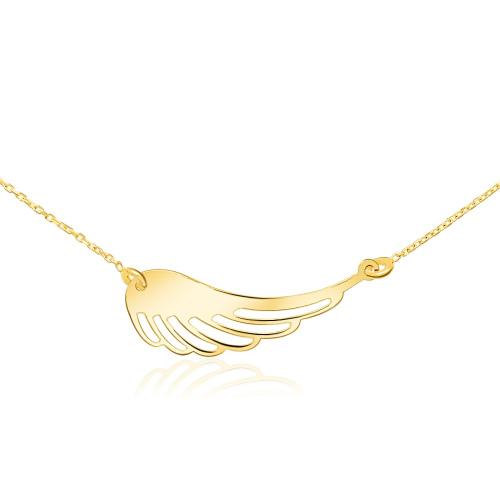 Złoty Naszyjnik Celebrytka - Skrzydło Anioła pr.333