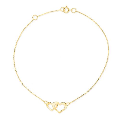 Złota Bransoletka - Połączone Serca pr.585