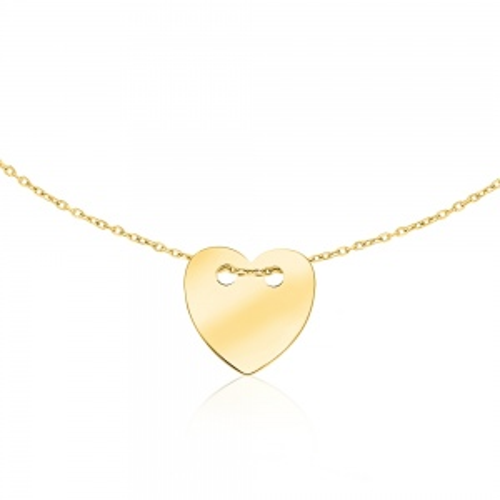 Złoty Naszyjnik Celebrytka Serce pr.333