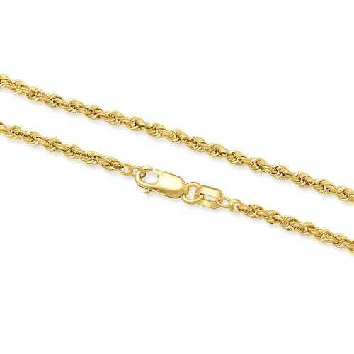 Złoty Łańcuszek Kordel 45cm pr. 585