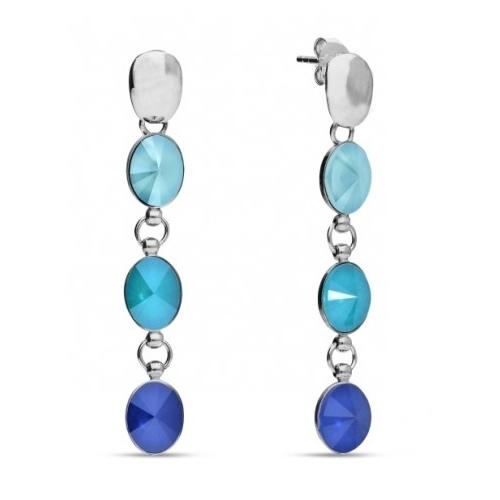 Spark Kolczyki Summer Blue, Azure Blue oraz Royal Blue KL41223SBAZB1