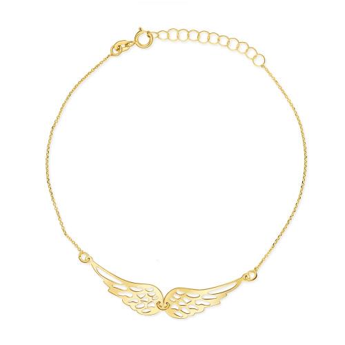 Złota Bransoletka Celebrytka - Skrzydła Anioła pr. 585