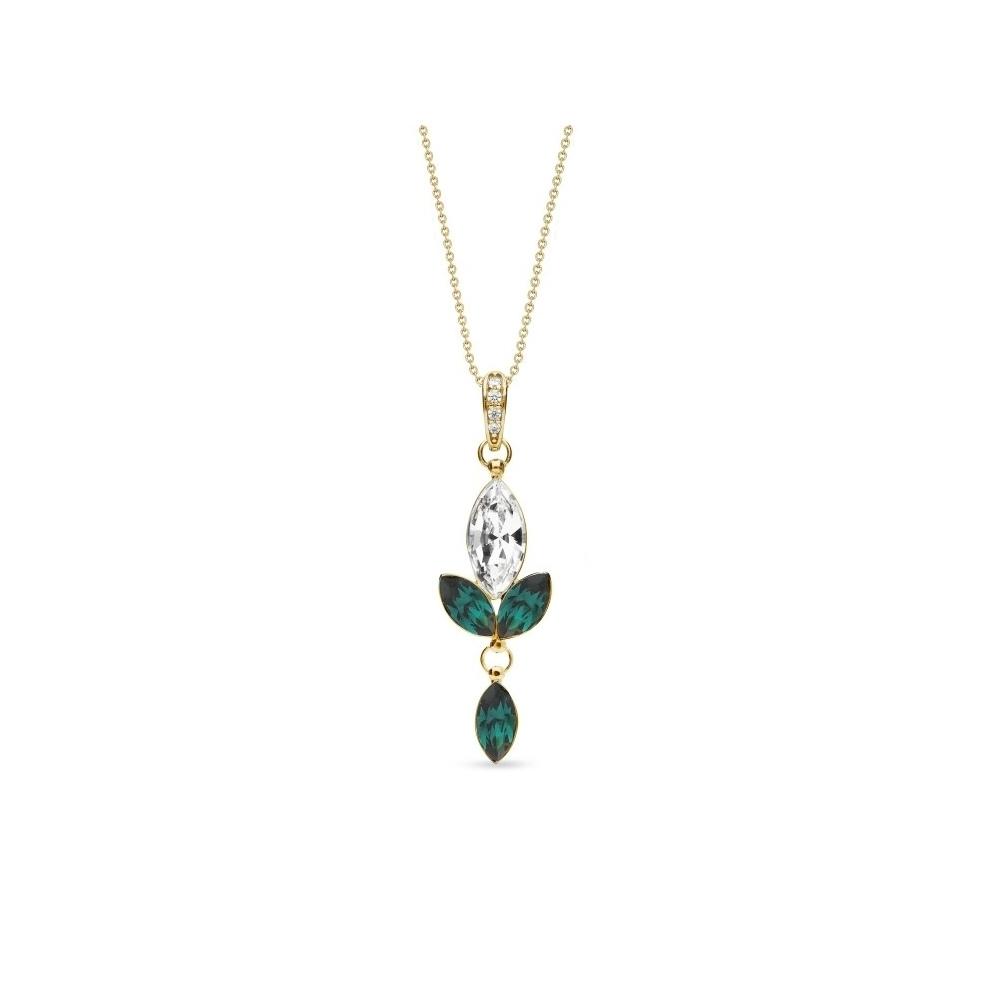 Spark Naszyjnik Lily Gold Emerald NCMG4228CEM