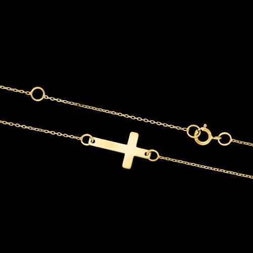 Złoty Naszyjnik Celebrytka Krzyżyk pr.333