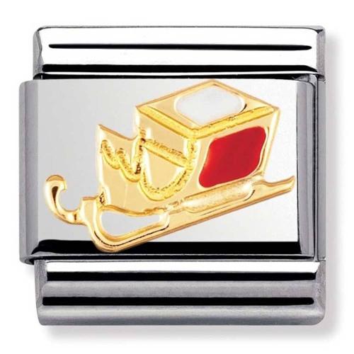 Nomination - Link 18K Gold 'Świąteczna Skarpetka' 030225/06