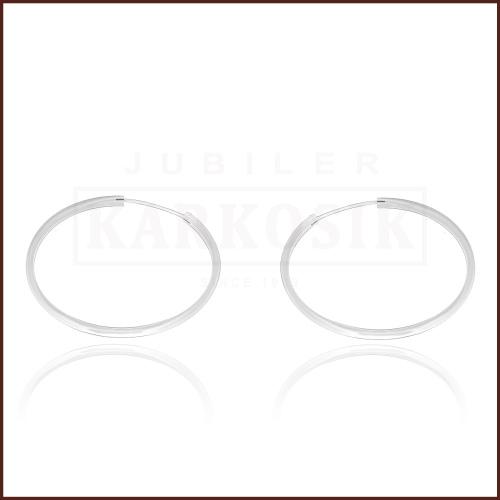 Srebrne kolczyki - Koła - 4,00cm pr.925