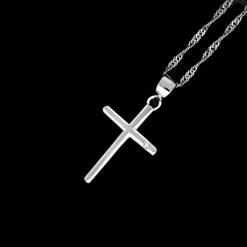 Srebrna zawieszka z cyrkonią - Krzyżyk pr.925