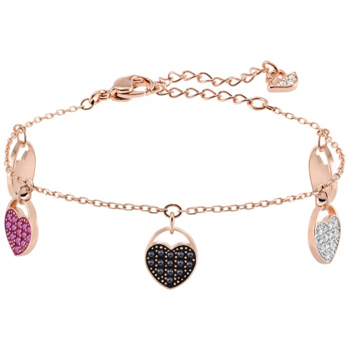Bransoletka SWAROVSKI - Ginger Bracelet, Multi-colored, Rose gold 5472444