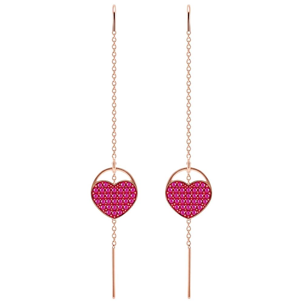 Kolczyki SWAROVSKI - Ginger Pierced, Pink, Rose gold 5472445