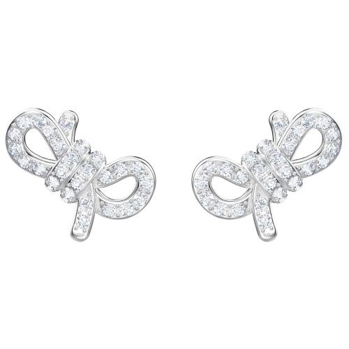 Kolczyki SWAROVSKI - Lifelong Bow Pierced, White 5447080