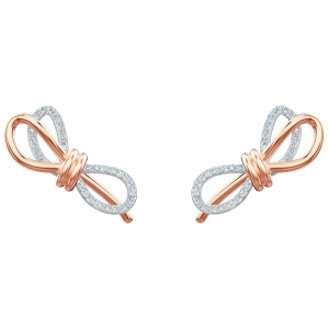 Kolczyki SWAROVSKI - Lifelong Bow, Rose gold 5447089