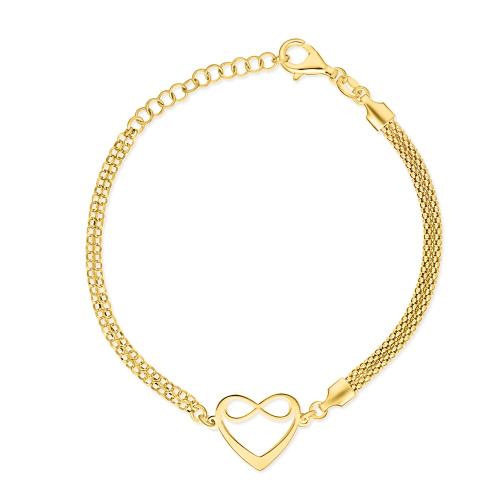 Pozłacana bransoletka celebrytka - Nieskończona Miłość pr.925