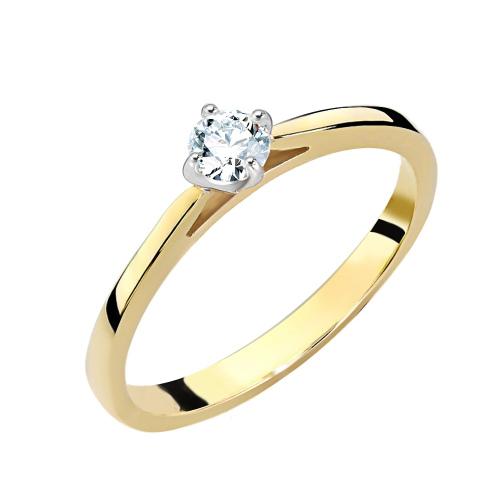 Pierścionek zaręczynowy 585 złoto z brylantem 0,250ct