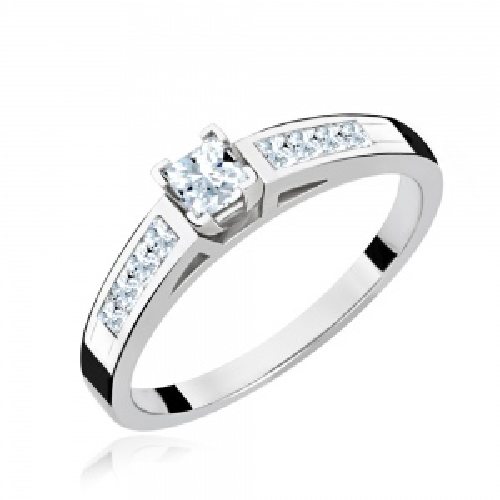 Pierścionek zaręczynowy 585 białe złoto z brylantami 0,65ct