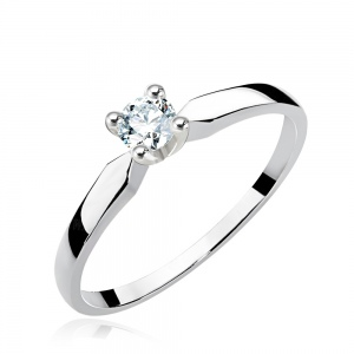 Pierścionek zaręczynowy 585 białe złoto z brylantem 0,25ct