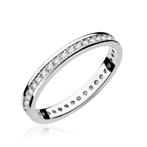 Pierścionek zaręczynowy 585 białe złoto z brylantami 0,42ct