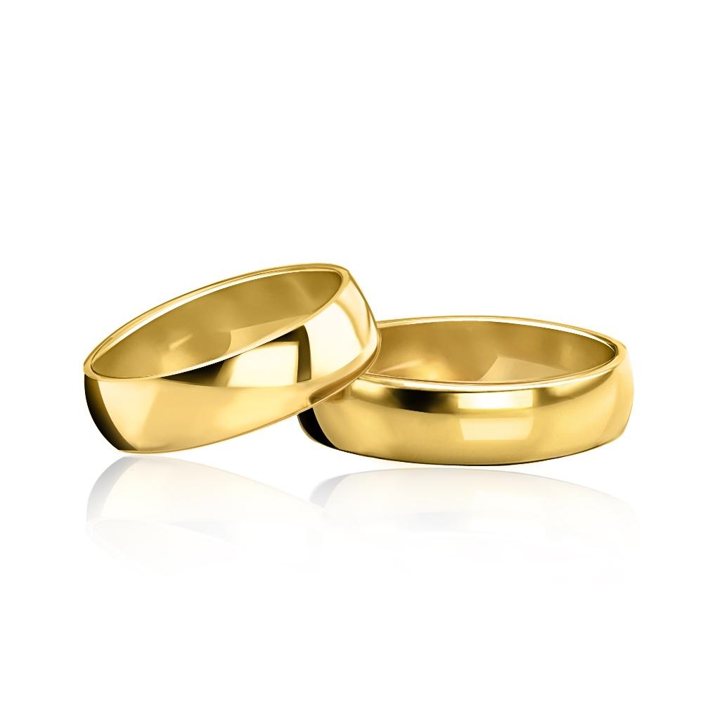 Obrączka ślubna klasyczna 4mm pr. 585