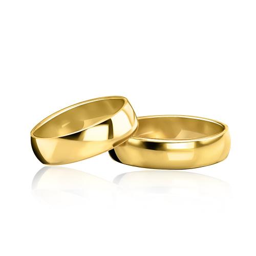Obrączki ślubne klasyczne pr. 585