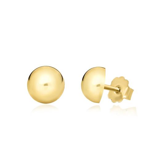 Złote kolczyki - Półkule 6mm pr.333