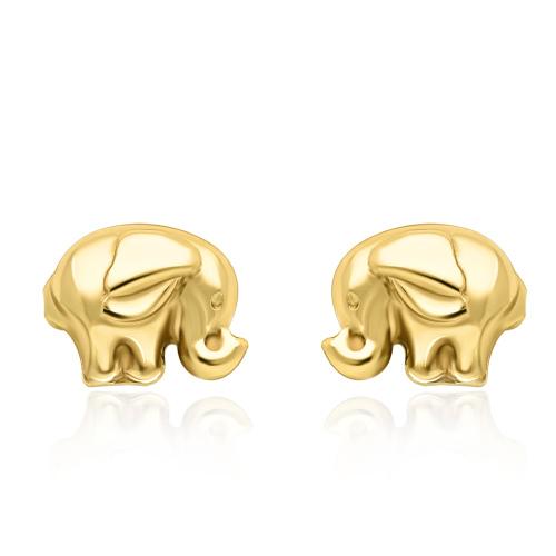 Złote kolczyki - Słoniki pr.333