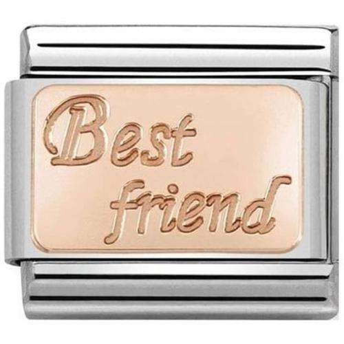 Nomination -  Link 9K Rose Gold 'Best Friend' 430108/16
