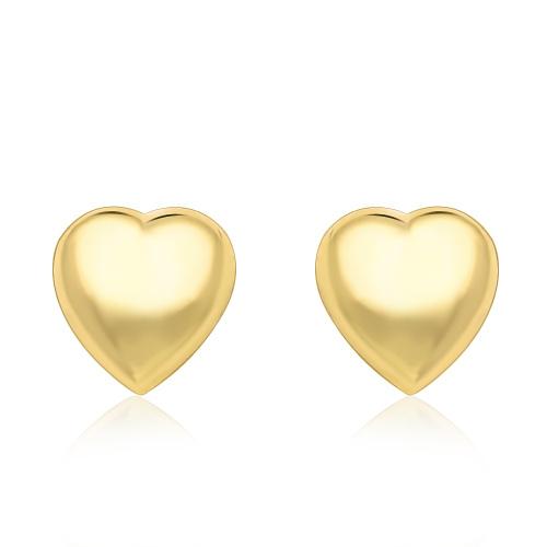 Złote kolczyki - Serduszka pr.333