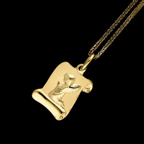 Złota Zawieszka Medalik Papirus pr.585