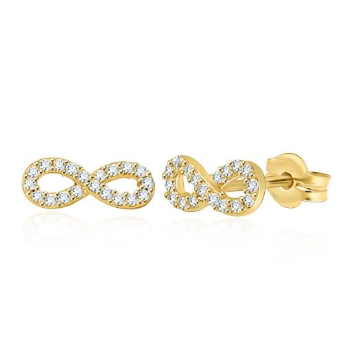 Złote kolczyki z cyrkoniami - Nieskończoność pr.585