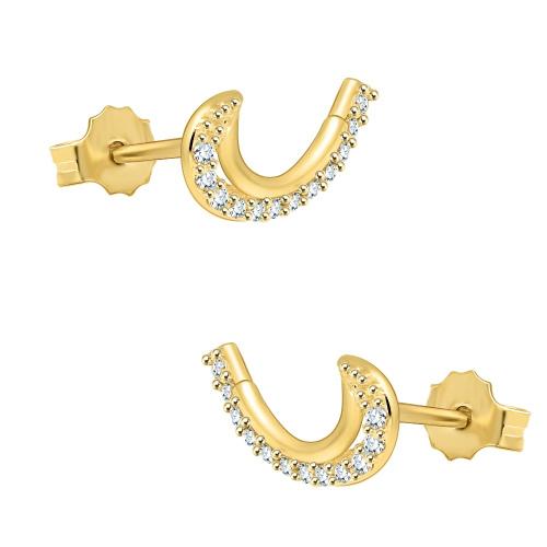 Złote kolczyki z cyrkoniami - nausznice pr.585
