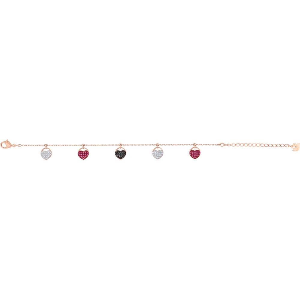 Bransoletka SWAROVSKI - Ginger Bracelet, Multi-colored, Rose gold 5472444