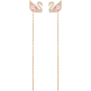 Kolczyki SWAROVSKI - Dazzling Swan, Multi-colored, Rose Gold 5469990