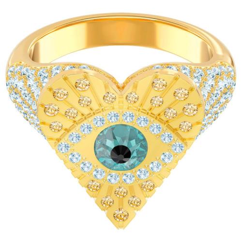 Pierścionek SWAROVSKI - Lucky Goddess Heart Motif, Multi-colored, Gold 5461778 55